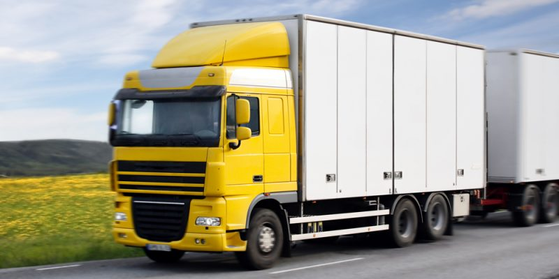 truck driving on country-road
